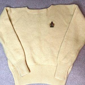 Vintage RALPH LAUREN Crested 100% WOOL  Sweater L